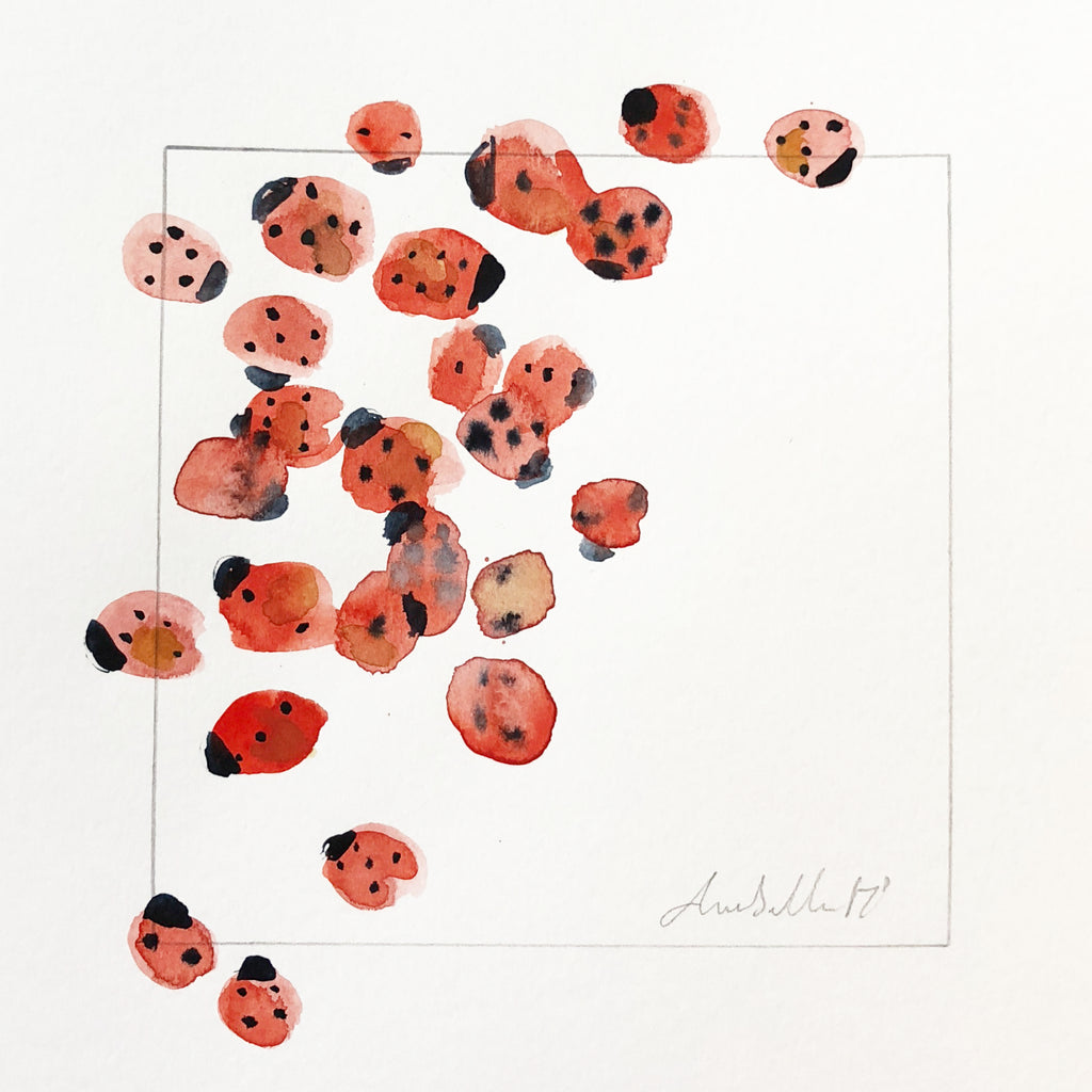 Ladybirds - An Original Watercolour Painting