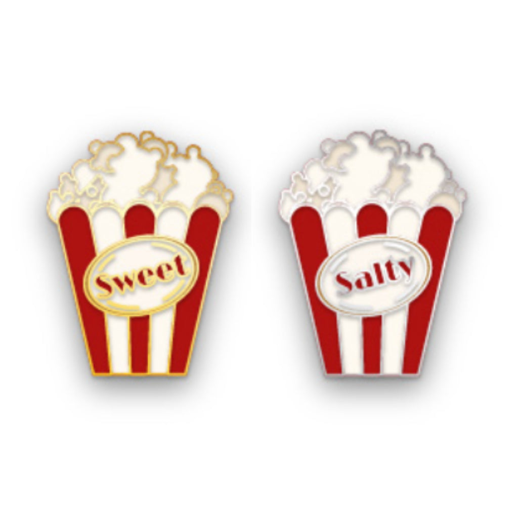 Sweet n' Salty Popcorn Friendship Pins