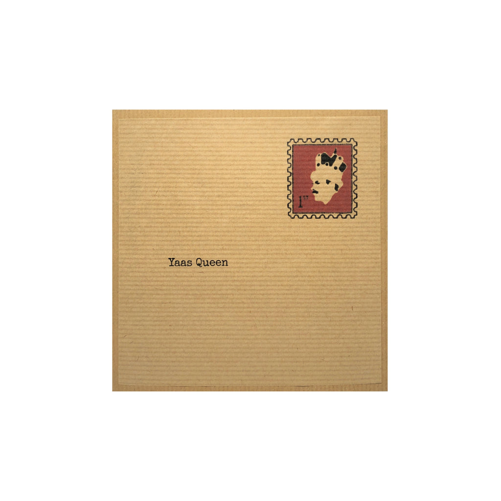 Brown 'Yaas Queen' Greeting Card
