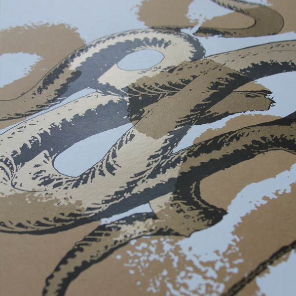 "J. Bannon ""Converge x Neurosis: Gold on Kraft"" Silkscreened Print"