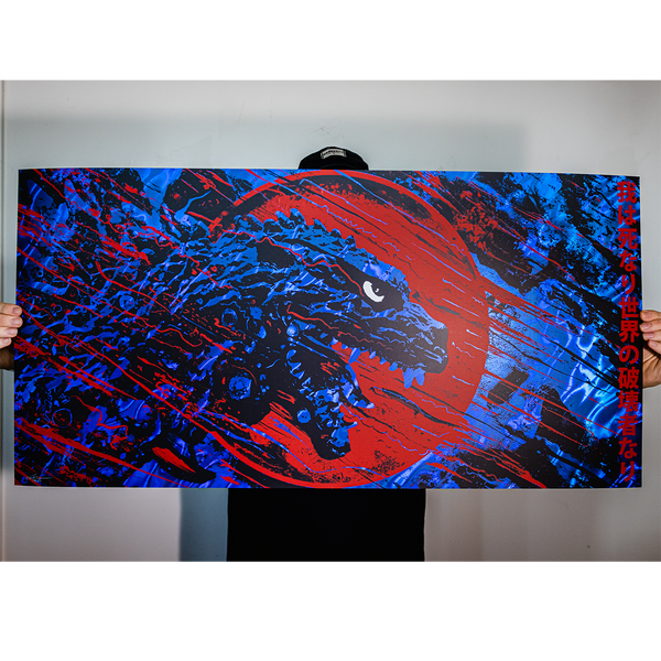 "J. Bannon ""Destroyer of Worlds: MIRROR LAVA BLUE"" Silkscreened Print"