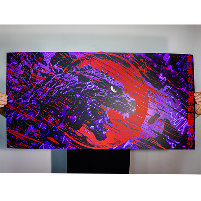 "J. Bannon ""Destroyer of Worlds: MIRROR LAVA PURPLE"" Silkscreened Print"