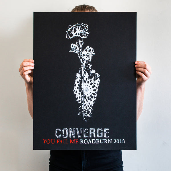 "Thomas Hooper ""Converge: You Fail Me Roadburn 2018"" Silkscreened Print"