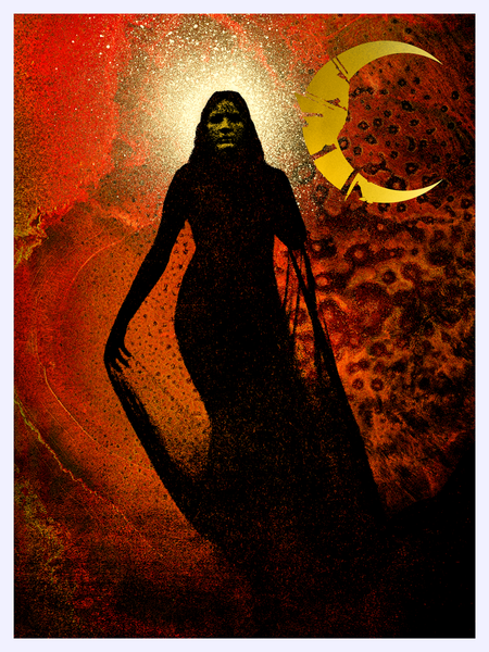 "J. Bannon ""Blood Moon: Ghost"" Giclee Print"