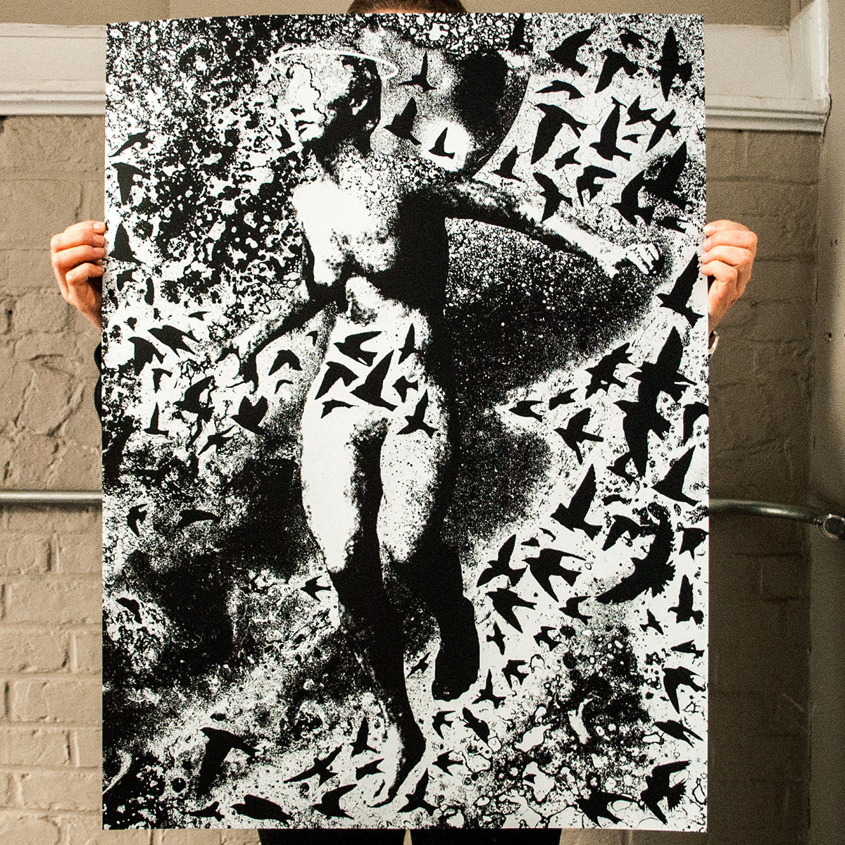 "J. Bannon ""Enigma"" Silkscreened Print (Assorted Color)"