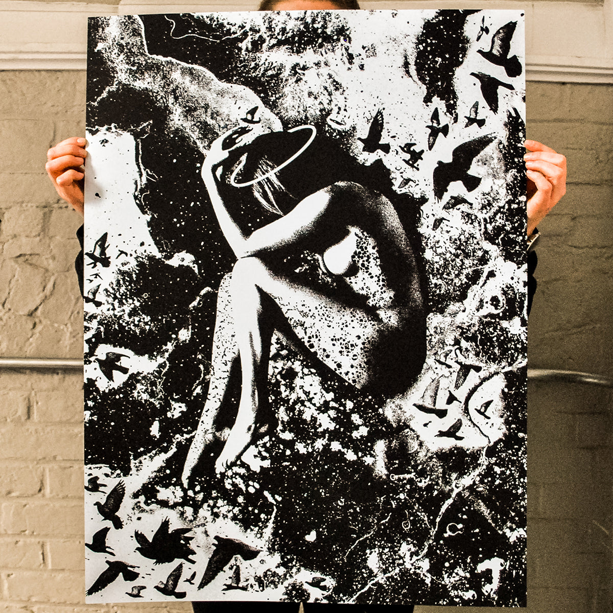 "J. Bannon ""Entropy"" Silkscreened Print (Assorted Color)"