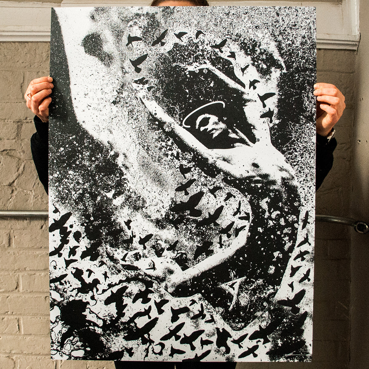 "J. Bannon ""Epiphany"" Silkscreened Print (Assorted Color)"