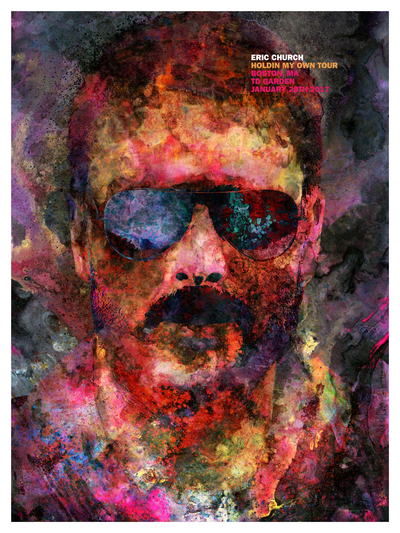 "J. Bannon ""Eric Church"" Limited Giclee Print"