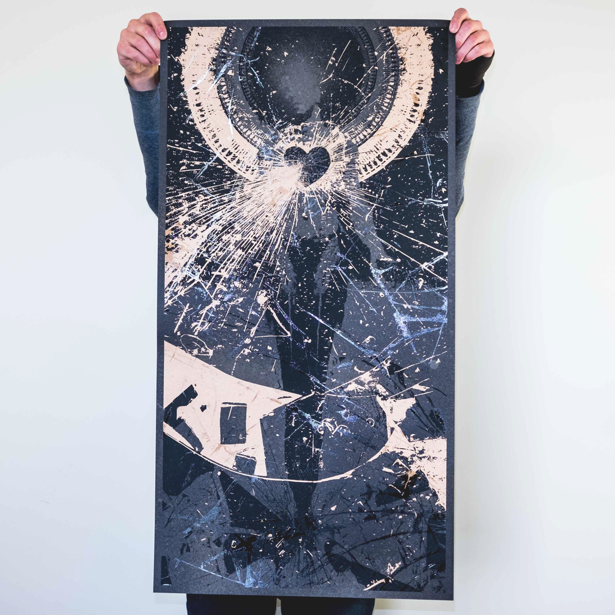 "J. Bannon ""In Place Apart: Bleached Black Edition"" Silkscreened Print"