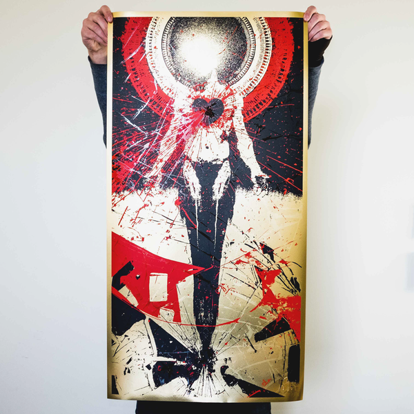 "J. Bannon ""In Place Apart: Gold Edition"" Silkscreened Print"