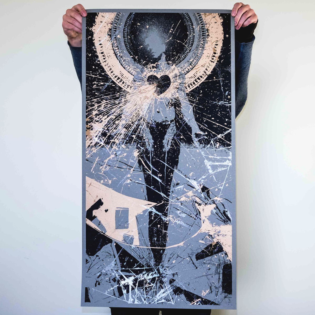 "J. Bannon ""In Place Apart: Steel Grey Edition"" Silkscreened Print"