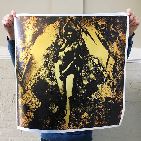 "J. Bannon ""Lightning Strikes"" Giclee Print (Metallic Edition)"