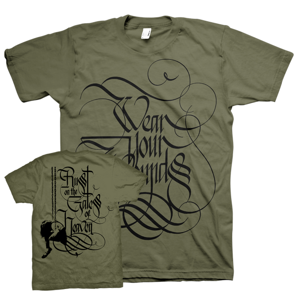 "Wear Your Wounds ""Swing Away: Army Green"" T-Shirt"