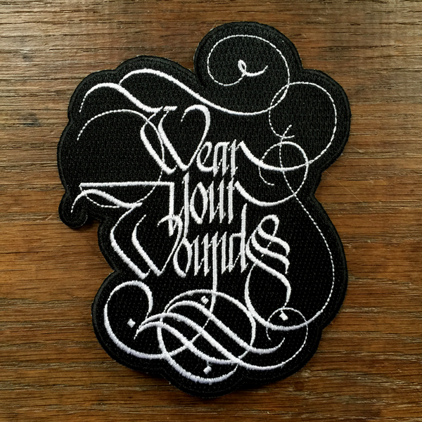 "Wear Your Wounds ""Logo"" Embroidered Patch"