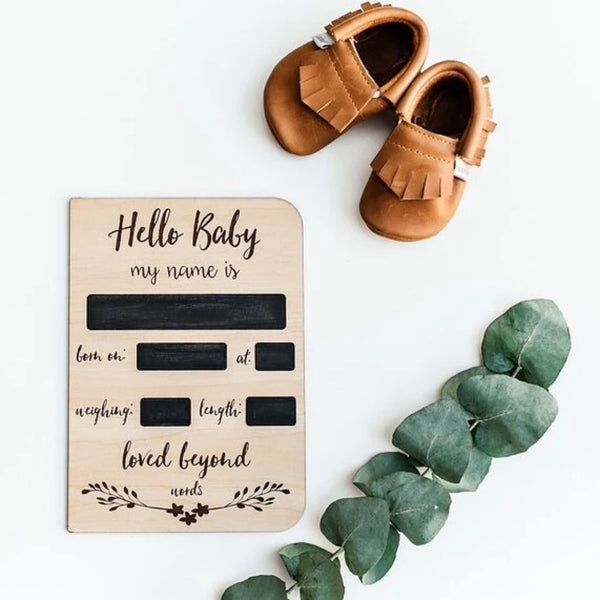 Birth Announcement Chalk Card