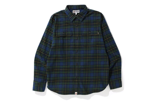 SHARK FLANNEL CHECK SHIRT M