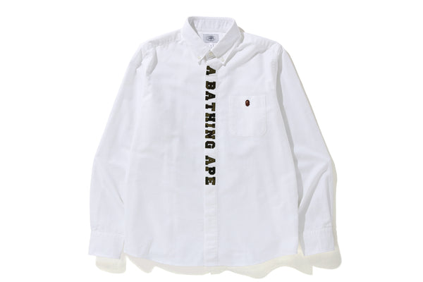 BAPE 1st CAMO APPLIQUE OXFORD BD SHIRT