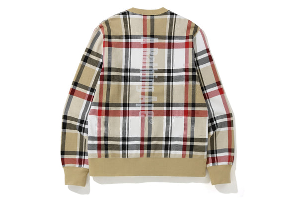 BAPE CHECK CREWNECK