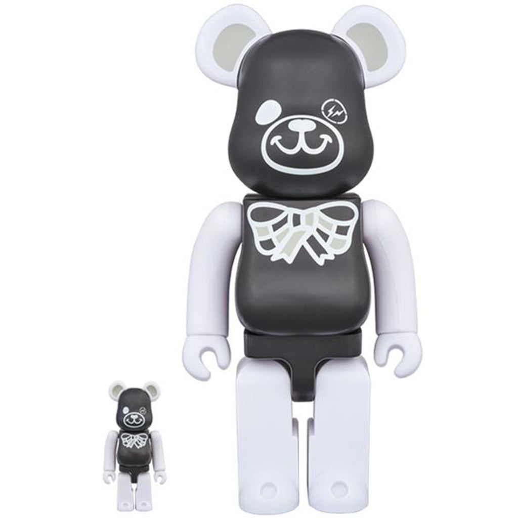BE@RBRICK FREEMASONRY × fragmentdesign 100% & 400% BLACK