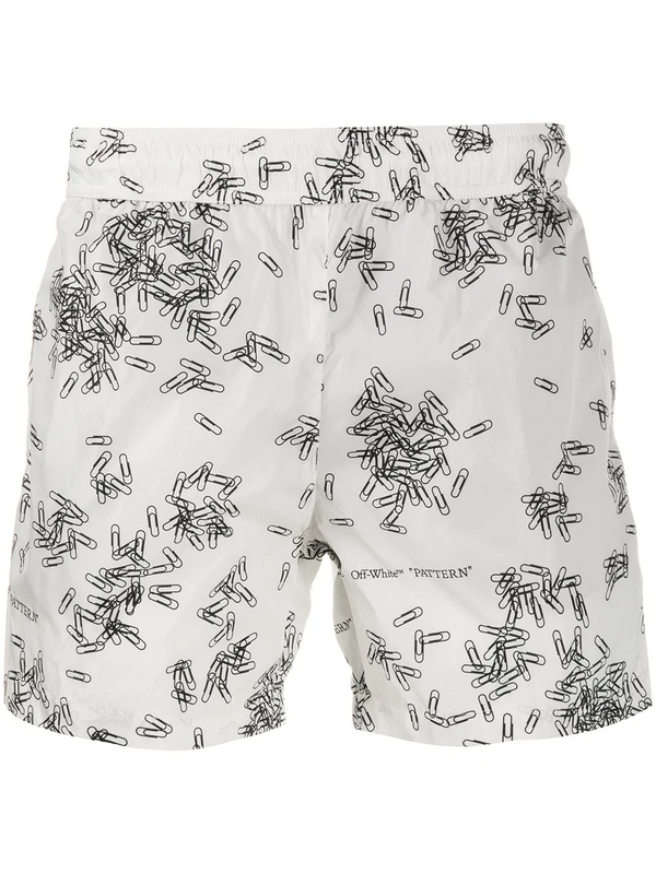 PAPERCLIP ALLOVER SWIMSHORTS