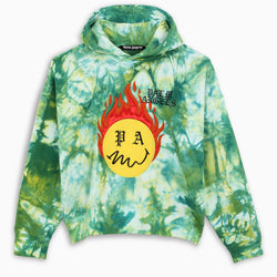 TIE DYE BURNING HEAD HOODY
