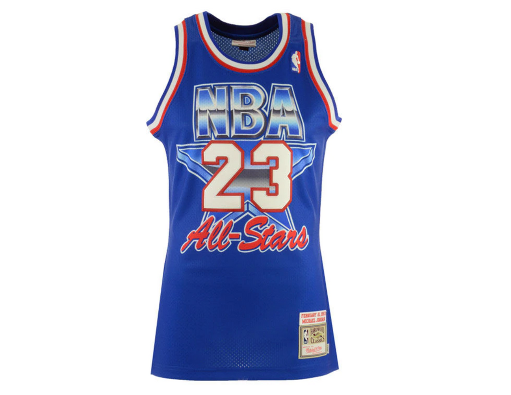 new concept 6f466 de234 Michael Jordan 1993 Authentic Jersey NBA All-Star Blue