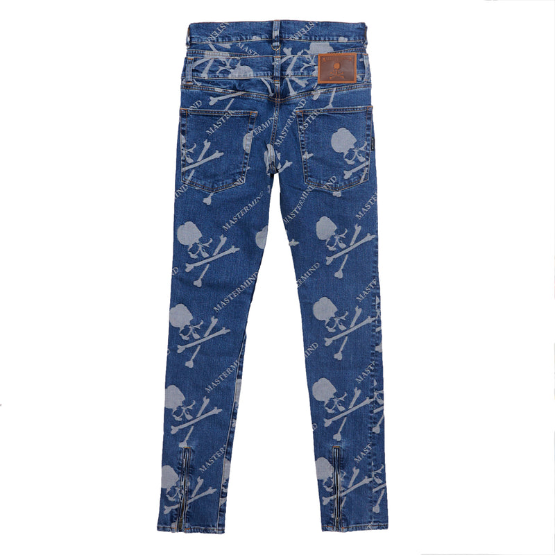 MONOGRAM DENIM PANTS