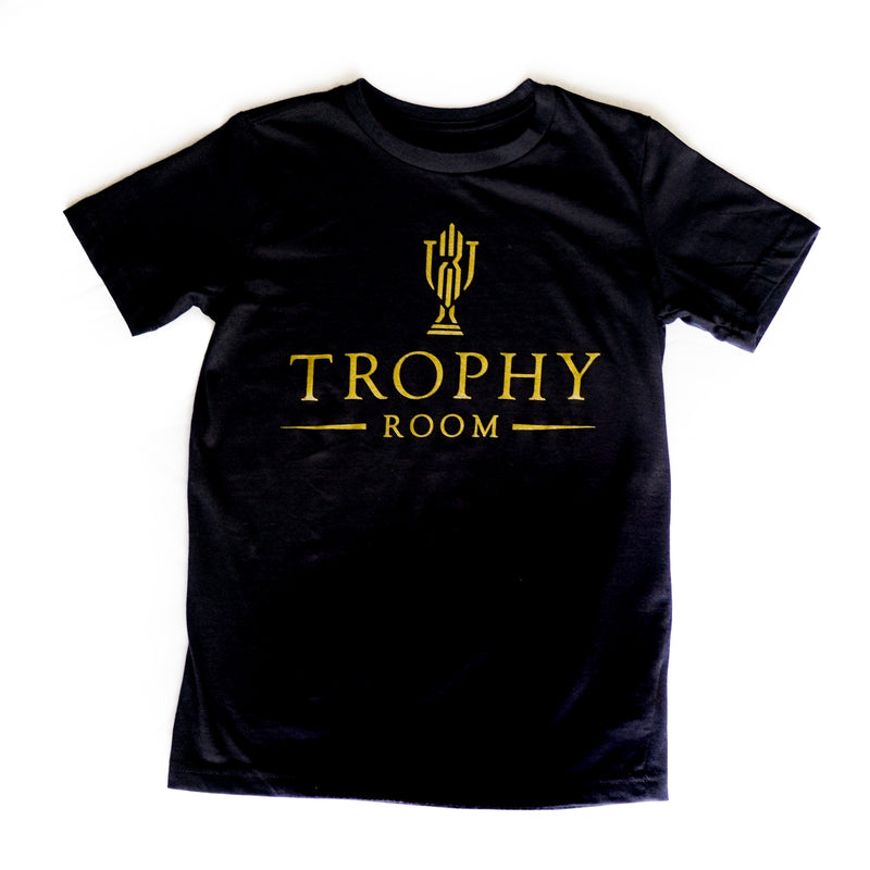 Kids Air Jordan + TROPHY ROOM 23 Wordmark Tee Toddler
