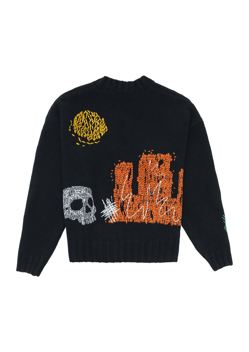 NEW FOLK ALLOVER SWEATER