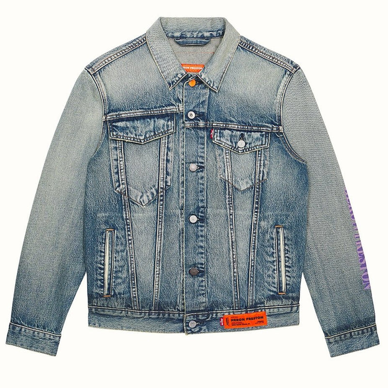 LEVI'S TRUCKER JACKET CONCRETE VINTAGE WASH