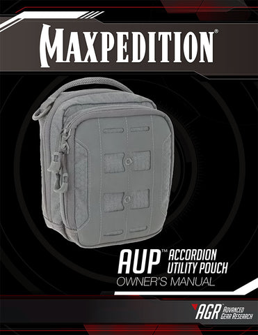 AUP Accordion Utility Pouch - Maxpedition Owner's Manual