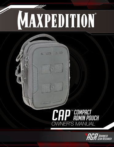 CAP Compact Admin Pouch Owner's Manual - Maxpedition