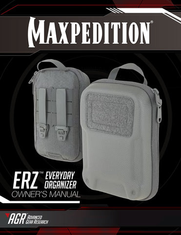 ERZ Everyday Organizer - Maxpedition Owner's Manual