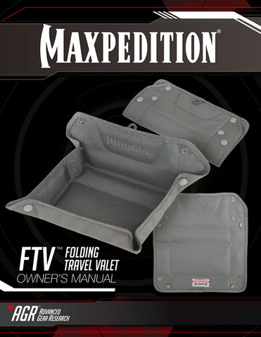 FTV Folding Travel Valet Owner's Manual - Maxpedition