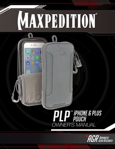 PLP iPhone 6/6S/7 Plus Pouch - Maxpedition- Owner's Manual