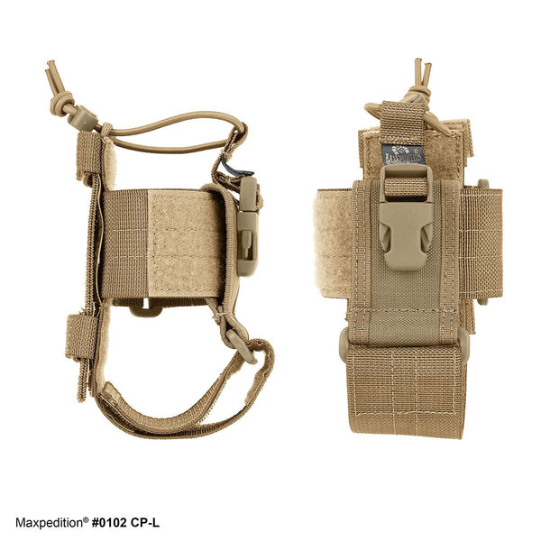 CP-L - MAXPEDITION, Phone holder, Radio Holder, Military, CCW, EDC, Tactical, Everyday Carry, Outdoors, Nature, Hiking, Camping, Police Officer, EMT, Firefighter, Bushcraft, Gear.