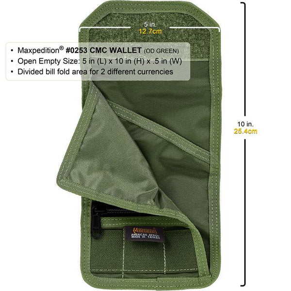C.M.C WALLET - MAXPEDITION,Military, CCW, EDC, Tactical, Everyday Carry, Outdoors, Nature, Hiking, Camping, Police Officer, EMT, Firefighter,Bushcraft, Gear