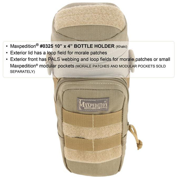 "Maxpedition 10"" x 4"" Bottle Holder, EDC, Hiking, Camping, Tactical, Outdoor essentials"