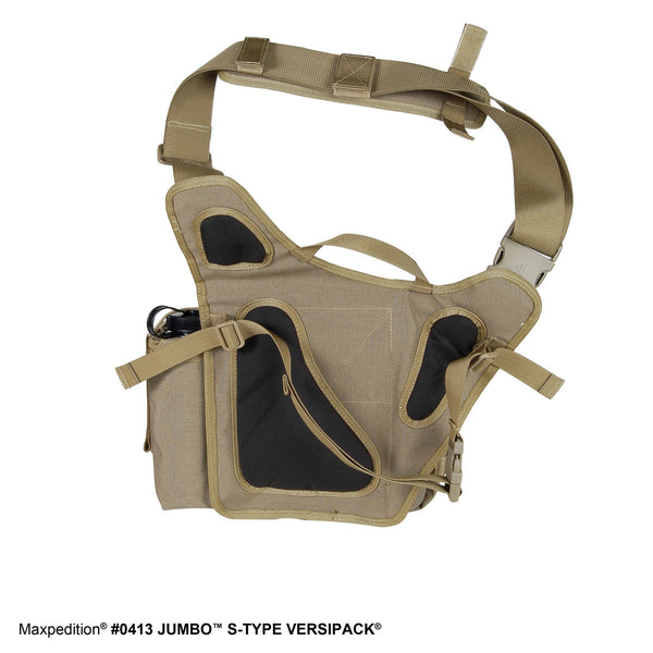 Jumbo S-type VERSIPACK - MAXPEDITION, Shoulder bag, left-side carry, CCW, EDC, Everyday Carry, Travel, Carry-on, Tourist, Adventurer,  Military, CCW, EDC, Tactical, Everyday Carry, Outdoors, Nature, Hiking, Camping, Police Officer, EMT, Firefighter, Bushcraft, Gear, Travel