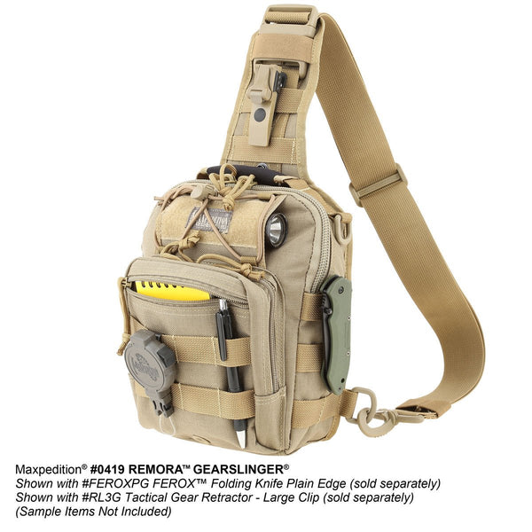 Remora Gearslinger- MAXPEDITION, Backpack, EDC, Tactical, CCW, Outdoors, Ambidextrous,Hiking, Travel , Pack, Adventure