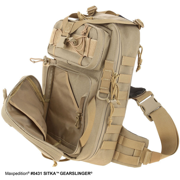 Sitka Gearslinger- MAXPEDITION, Backpack, EDC, Tactical, CCW, Outdoors, Ambidextrous,Hiking, Travel , Pack, Adventure