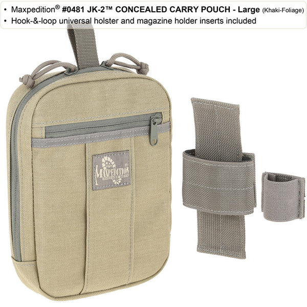 JK-2 Concealed Carry Pouch (Medium) - Maxpedition, Discreet, CCW, Quick-access, Tactical Gear, handgun Holder, handgun Carrier, Magazine Holder, Mag carrierMaxpedition, Military, CCW, Tactical, Everyday Carry, Outdoors, Hiking, Camping, Police Officer, EMT, Firefighter, Bushcraft, Gear.