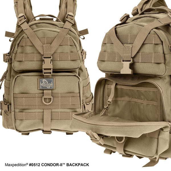 CONDOR-II BACKPACK - Military, CCW, EDC, Tactical, Everyday Carry, Outdoors, Nature, Hiking, Camping, Police Officer, EMT, Firefighter, Bushcraft, Gear.