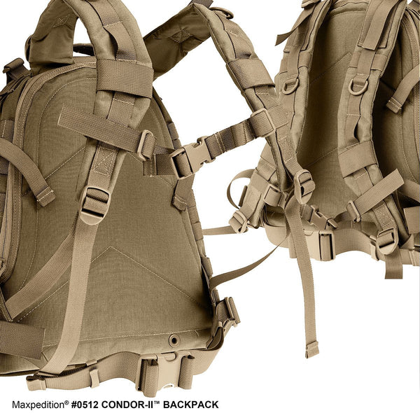 CONDOR-II BACKPACK - MAXPEDITION,Military, CCW, EDC, Tactical, Everyday Carry, Outdoors, Nature, Hiking, Camping, Police Officer, EMT, Firefighter, Bushcraft, Gear.