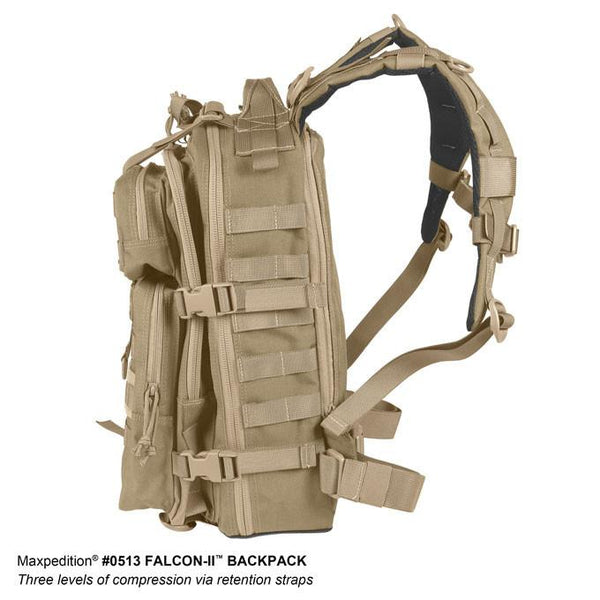 FALCON-II BACKPACK - MAXPEDITION, EDC Pack, Everyday Carry, Hiking, Camping, Outdoor, College, Adventure, Hunting, Range Gear, tactical, police officer, EMT, Firefighter