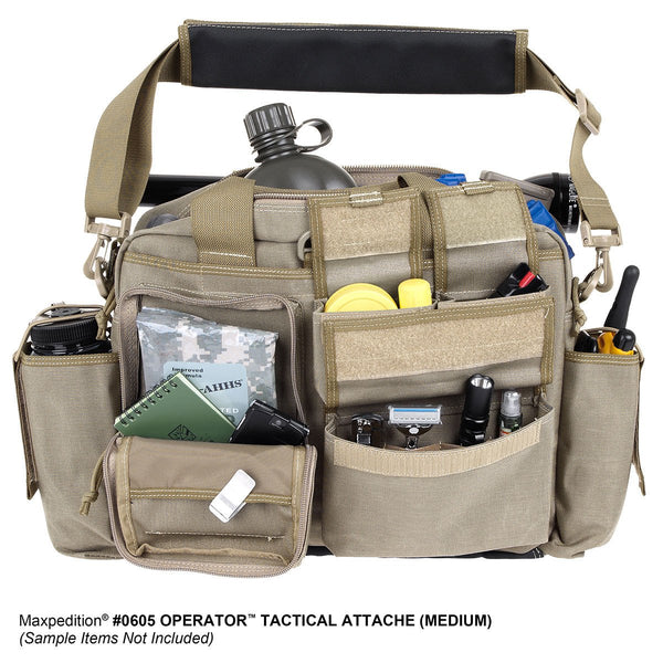 Operator Tactical Attache- Maxpedition, Military, CCW, EDC, Everyday Carry, Outdoors, Nature, Hiking, Camping, Police Officer, EMT, Firefighter, Bushcraft, Gear, Travel