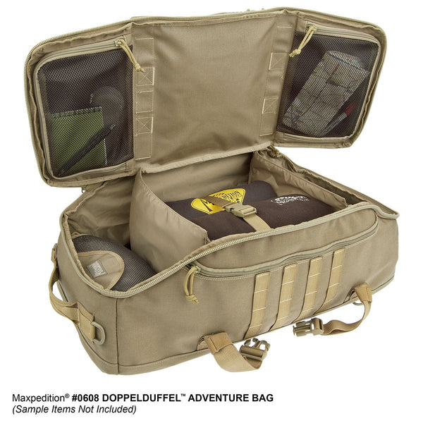 DOPPELDUFFEL ADVENTURE BAG - Travel, Luggage, Carry-on, TSA-Approved, Frequent Flyer, Adventure, Tourist,Maxpedition, Military, CCW, EDC, Tactical, Everyday Carry, Outdoors, Nature, Hiking, Camping, Police Officer, EMT, Firefighter, Bushcraft, Gear.