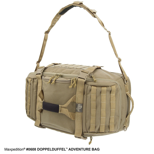 DOPPELDUFFEL ADVENTURE BAG - Travel, Luggage, Carry-on, TSA-Approved, Frequent Flyer, Adventure, TouristMaxpedition, Military, CCW, EDC, Tactical, Everyday Carry, Outdoors, Nature, Hiking, Camping, Police Officer, EMT, Firefighter, Bushcraft, Gear.