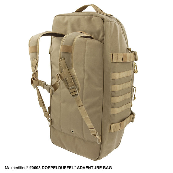 DOPPELDUFFEL ADVENTURE BAG - Travel, Luggage, Carry-on, TSA-Approved, Frequent Flyer, Adventure, Tourist ,Maxpedition, Military, CCW, EDC, Tactical, Everyday Carry, Outdoors, Nature, Hiking, Camping, Police Officer, EMT, Firefighter, Bushcraft, Gear.