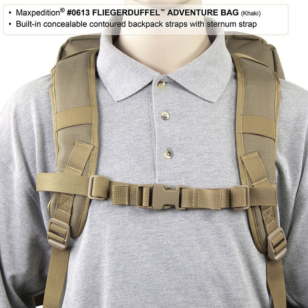 FLIEGERDUFFEL ADVENTURE BAG - Maxpedition, Military, CCW, EDC, Tactical, Everyday Carry, Outdoors, Nature, Hiking, Camping, Police Officer, EMT, Firefighter, Bushcraft, Gear.